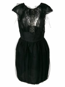 Valentino Pre-Owned textured bodice dress - Black