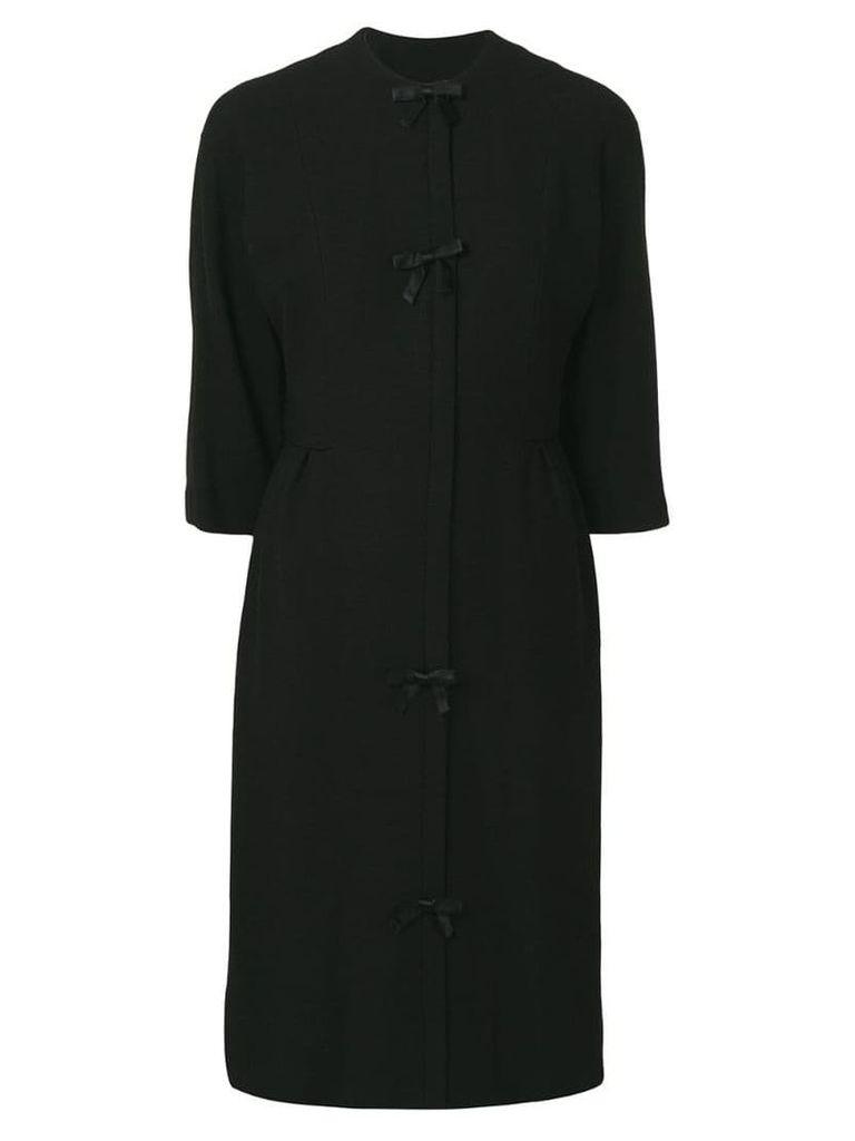 William Vintage 1958 bow detail dress - Black