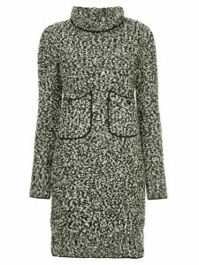 Chanel Pre-Owned turtle neck knitted dress - Black