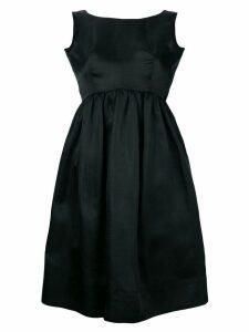 BALENCIAGA PRE-OWNED 1967 empire line dress - Black