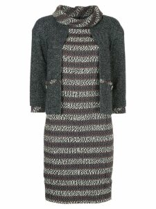 Chanel Pre-Owned tweed layered dress - Green