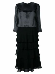 Comme Des Garçons Pre-Owned three-quarter sleeves layered dress -