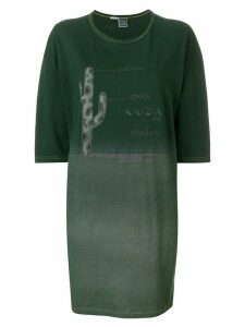 Krizia Pre-Owned printed T-shirt dress - Green