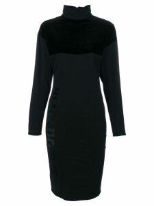 Jean Paul Gaultier Pre-Owned turtleneck boxy dress - Black