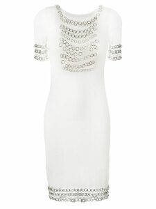 Christian Dior Pre-Owned chainmail short sleeve dress - White