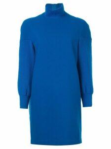 Comme Des Garçons Pre-Owned polo neck dress - Blue
