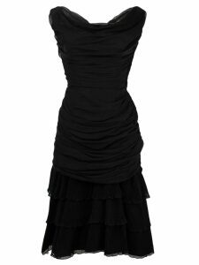 Givenchy Pre-Owned ruched cocktail dress - Black