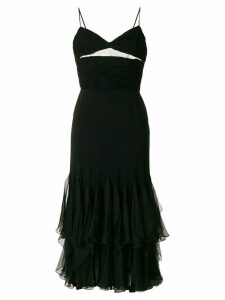 Valentino Pre-Owned ruffle trim dress - Black