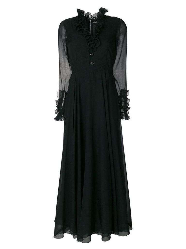 A.N.G.E.L.O. Vintage Cult chiffon sleeve dress - Black