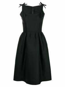 Nina Ricci Pre-Owned sleeveless flared midi dress - Black
