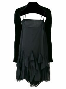 Romeo Gigli Pre-Owned off-shoulder flared dress - Black