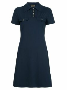 Fendi Pre-Owned polo shirt one piece - Blue