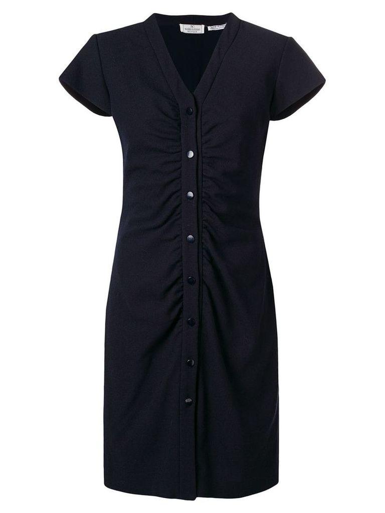Valentino Vintage shortsleeved shirt dress - Blue