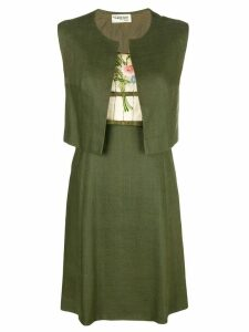 A.N.G.E.L.O. Vintage Cult embroidered floral detail dress - Green