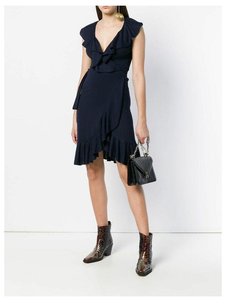 Valentino Vintage ruffled dress - Blue