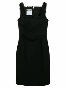 Moschino Pre-Owned lace panel short dress - Black