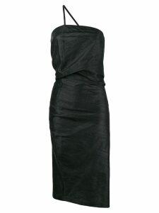 Romeo Gigli Pre-Owned draped asymmetric midi dress - Black