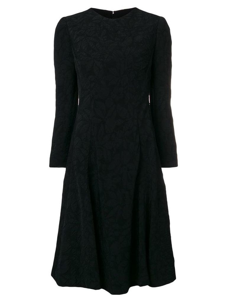 William Vintage 1968 longsleeved jacquard dress - Black