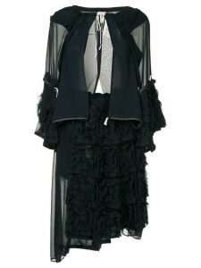 Comme Des Garçons Pre-Owned layered frilled jacket and dress - Black