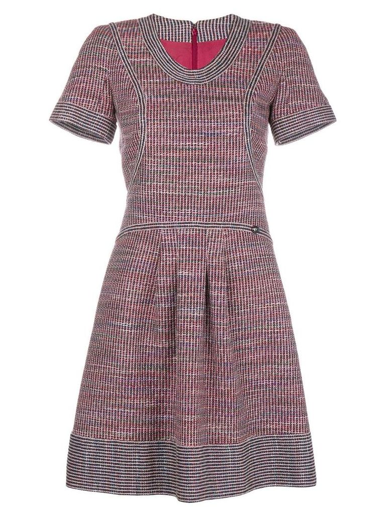 Chanel Vintage tweed short-sleeved dress - Red