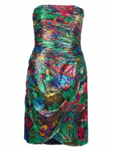 Escada Pre-Owned Strapless dress - Metallic