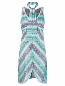 Missoni Pre-Owned abstract print scarf dress - Blue