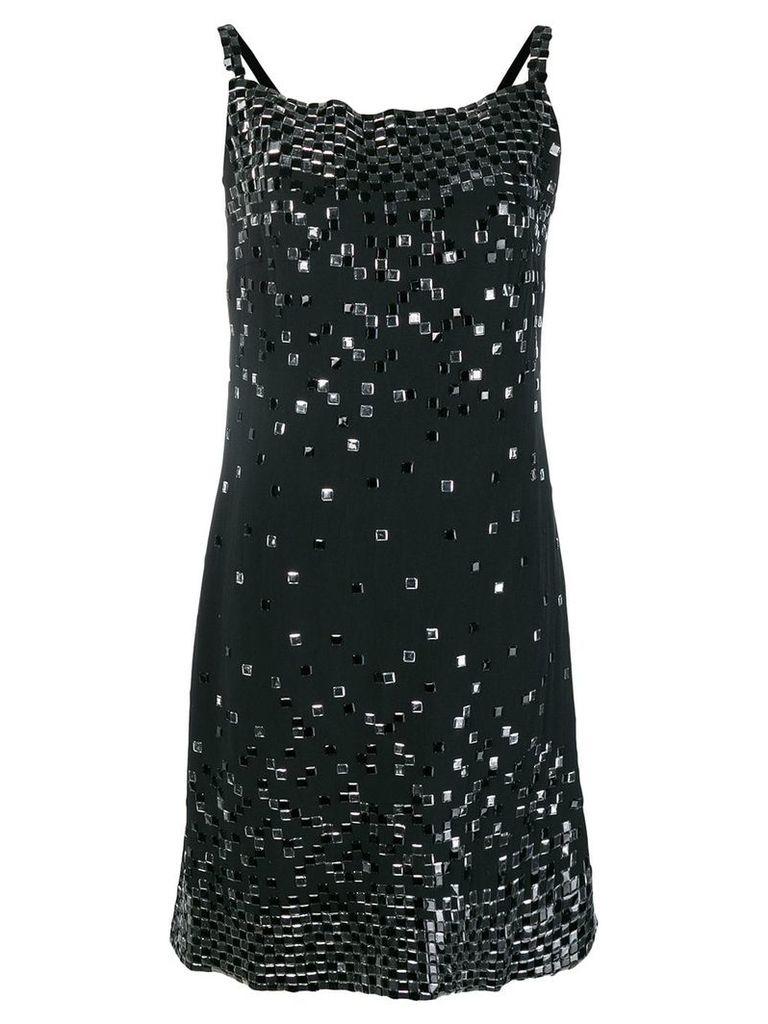 Chanel Vintage embellished straight dress - Black
