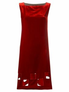 Jean Paul Gaultier Pre-Owned cut-out velvet dress - Red