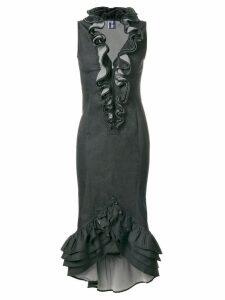 Jean Paul Gaultier Pre-Owned embellished ruffle dress - Black