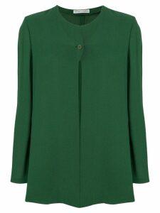 Giorgio Armani Pre-Owned collarless fluid jacket - Green