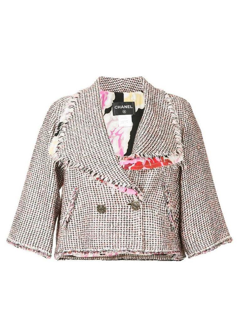 Chanel Vintage cropped tweed jacket - Pink