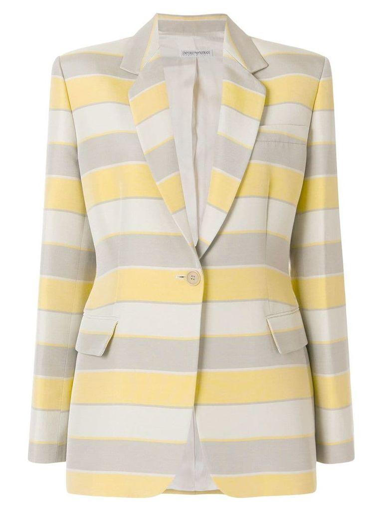 Giorgio Armani Vintage striped classic blazer - Multicolour