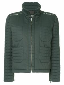Chanel Pre-Owned zipped padded jacket - Grey