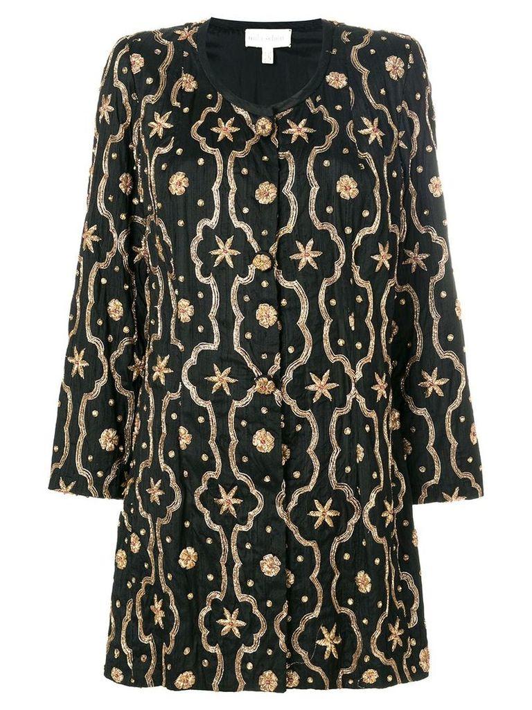 A.N.G.E.L.O. Vintage Cult embroidered collarless jacket - Black