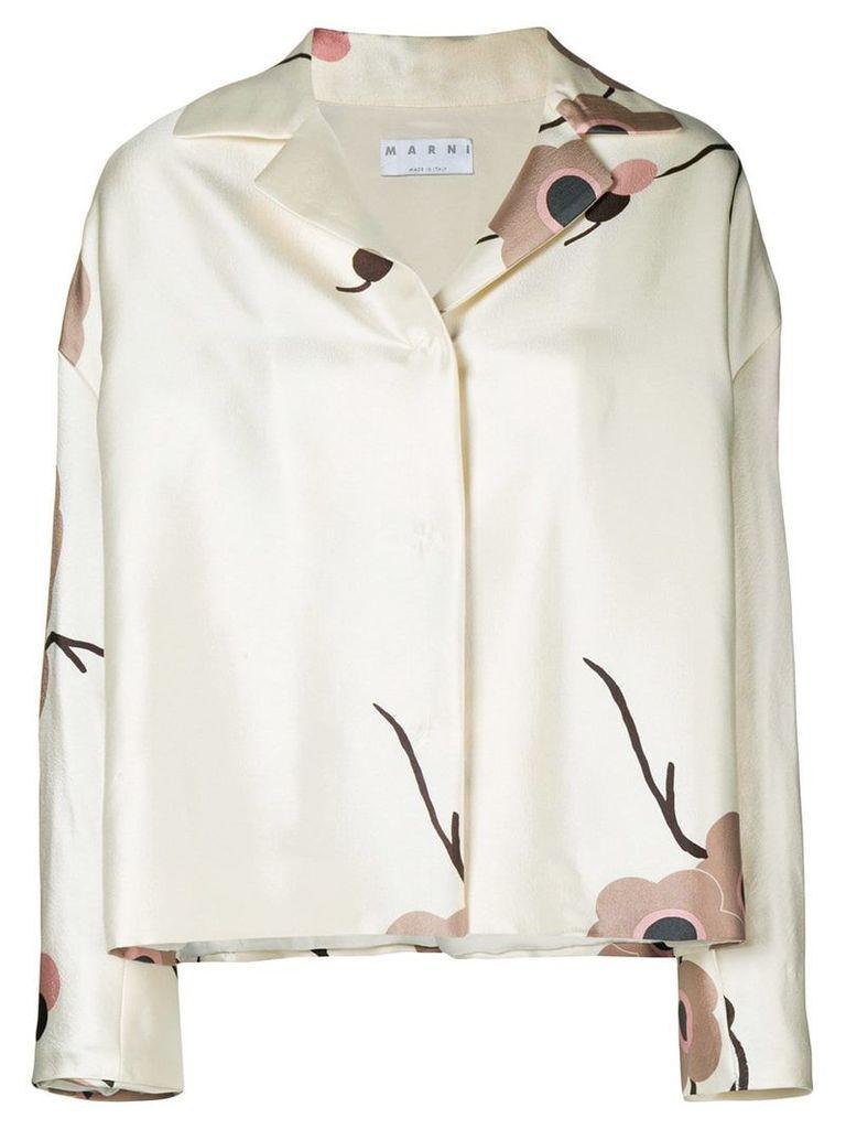 A.N.G.E.L.O. Vintage Cult floral print jacket - Neutrals