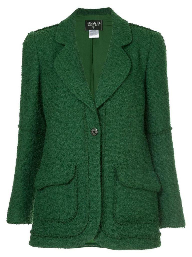 Chanel Vintage single button blazer - Green