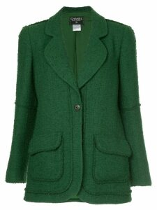 Chanel Pre-Owned single button blazer - Green