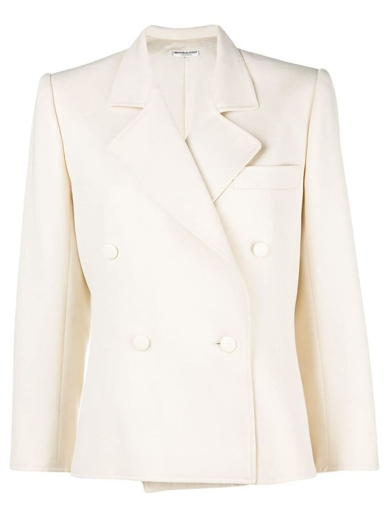 Yves Saint Laurent Vintage double breasted blazer - Neutrals