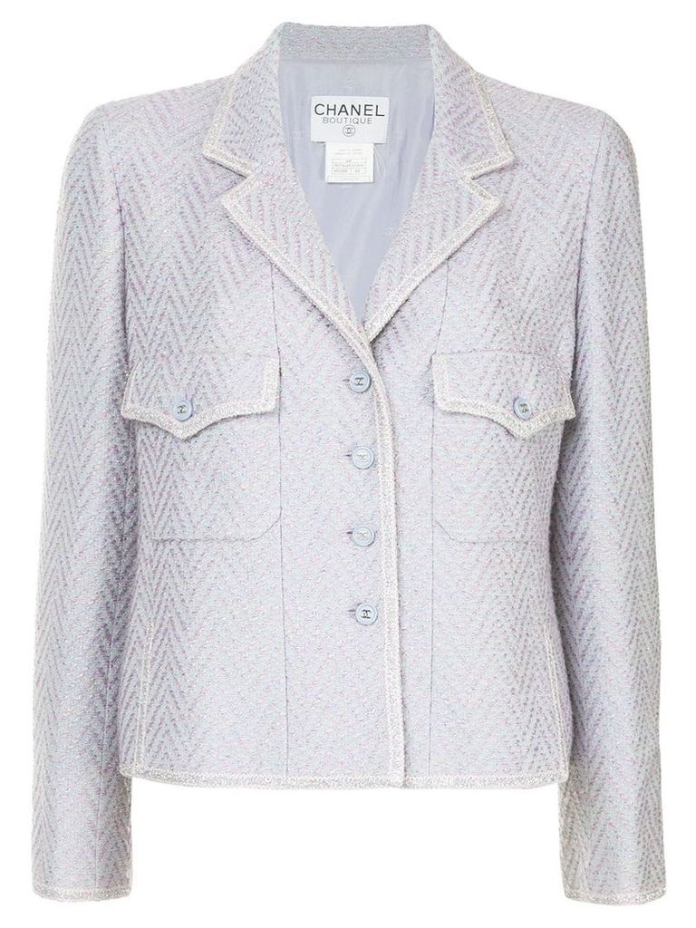 Chanel Vintage fishtail pattern fitted jacket - Pink
