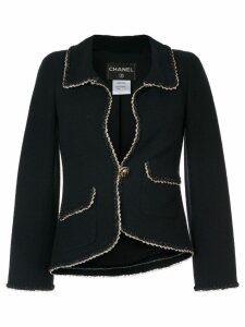 Chanel Pre-Owned trimmed detailing blazer - Blue