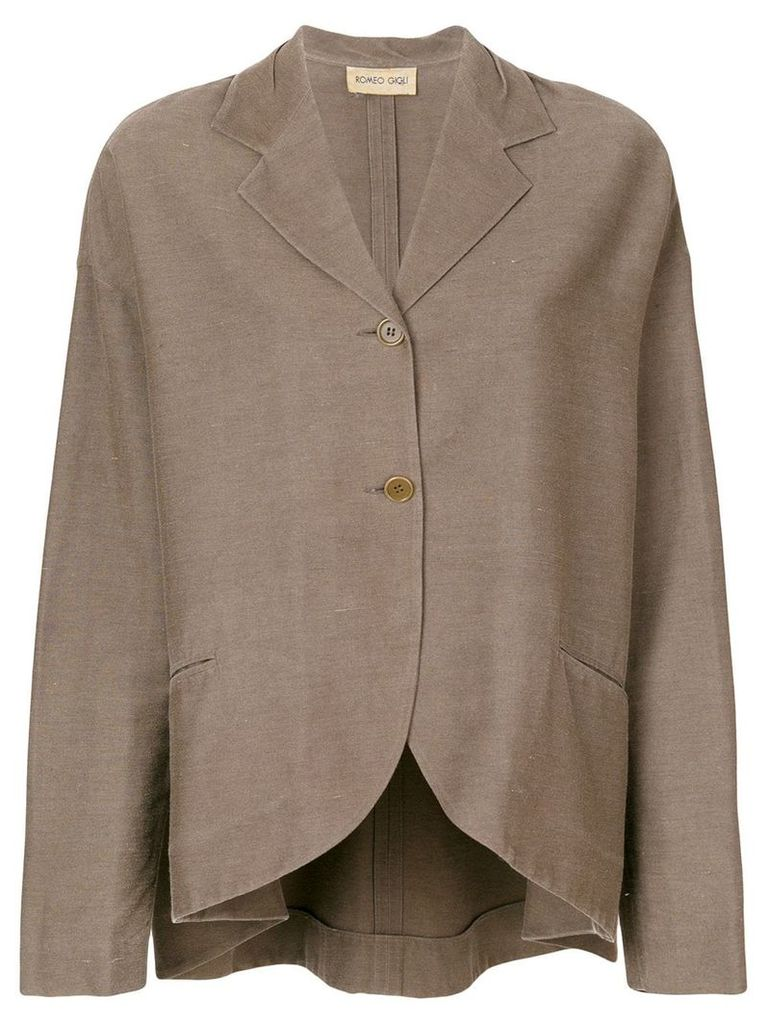 Romeo Gigli Vintage long sleeve blazer - Brown