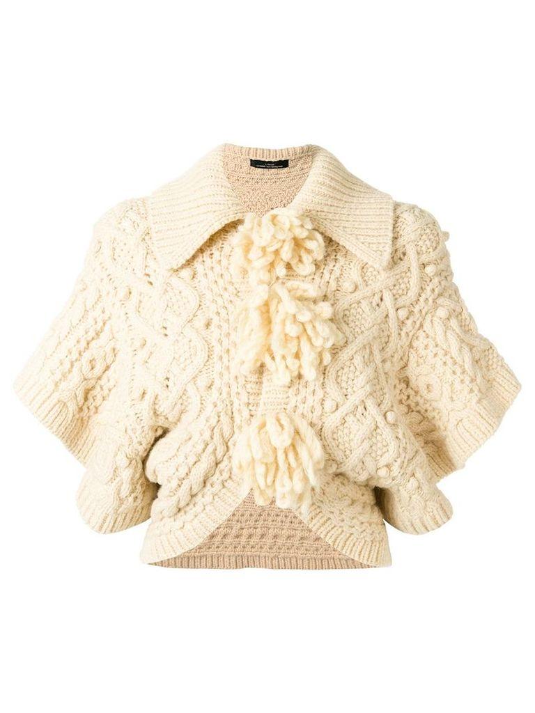 Comme Des Garçons Vintage cropped knitted jacket - Neutrals