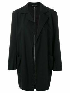 YOHJI YAMAMOTO PRE-OWNED zipped back boxy blazer - Black