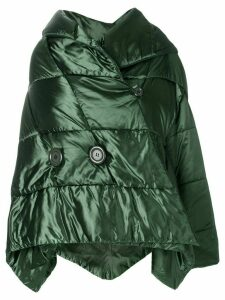 Issey Miyake Pre-Owned asymmetric padded jacket - Green
