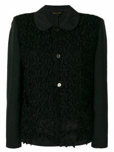 Comme Des Garçons Pre-Owned floral panelled blazer - Black