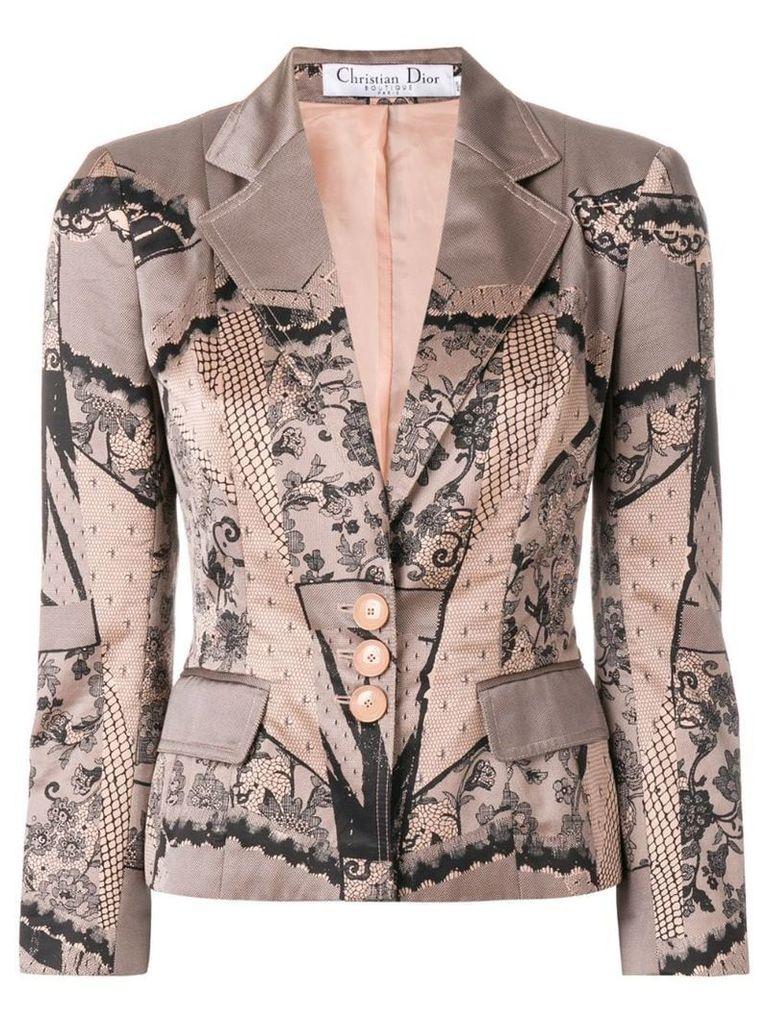 Christian Dior Vintage lace print jacket - Pink