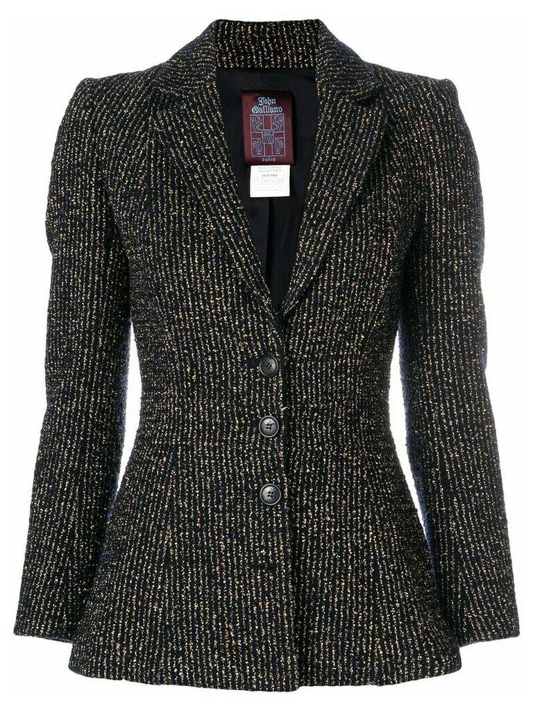 John Galliano Vintage metallic striped blazer - Black