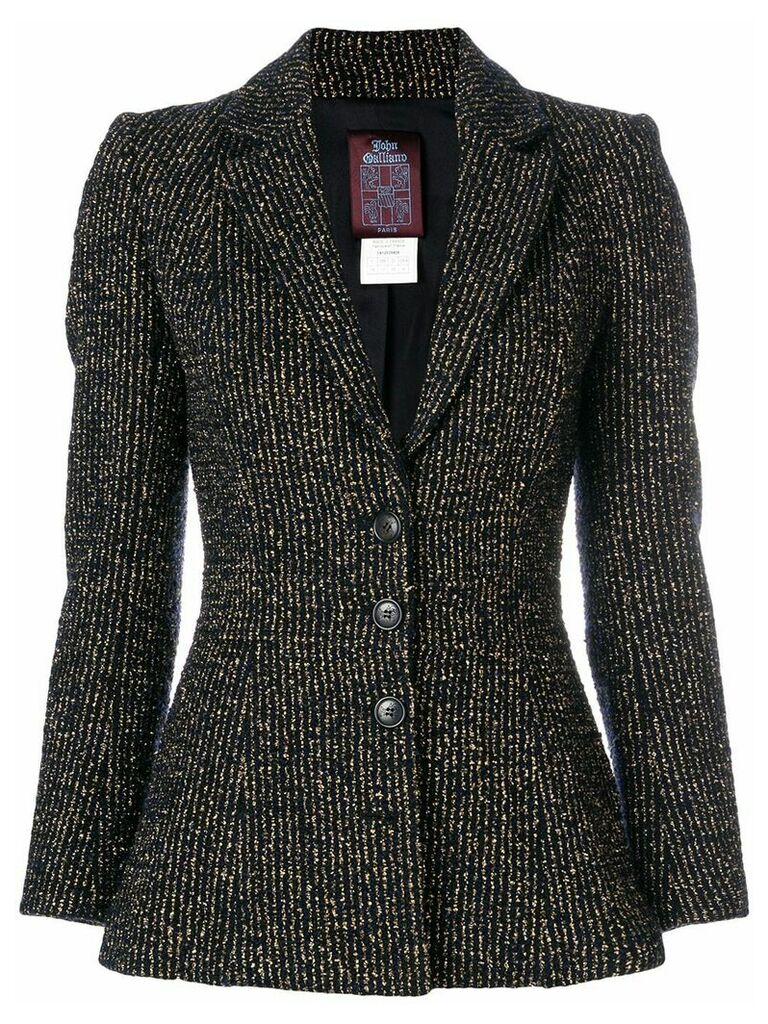 John Galliano Vintage metallic striped blazer - Black
