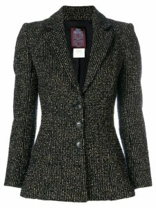 John Galliano Pre-Owned metallic striped blazer - Black