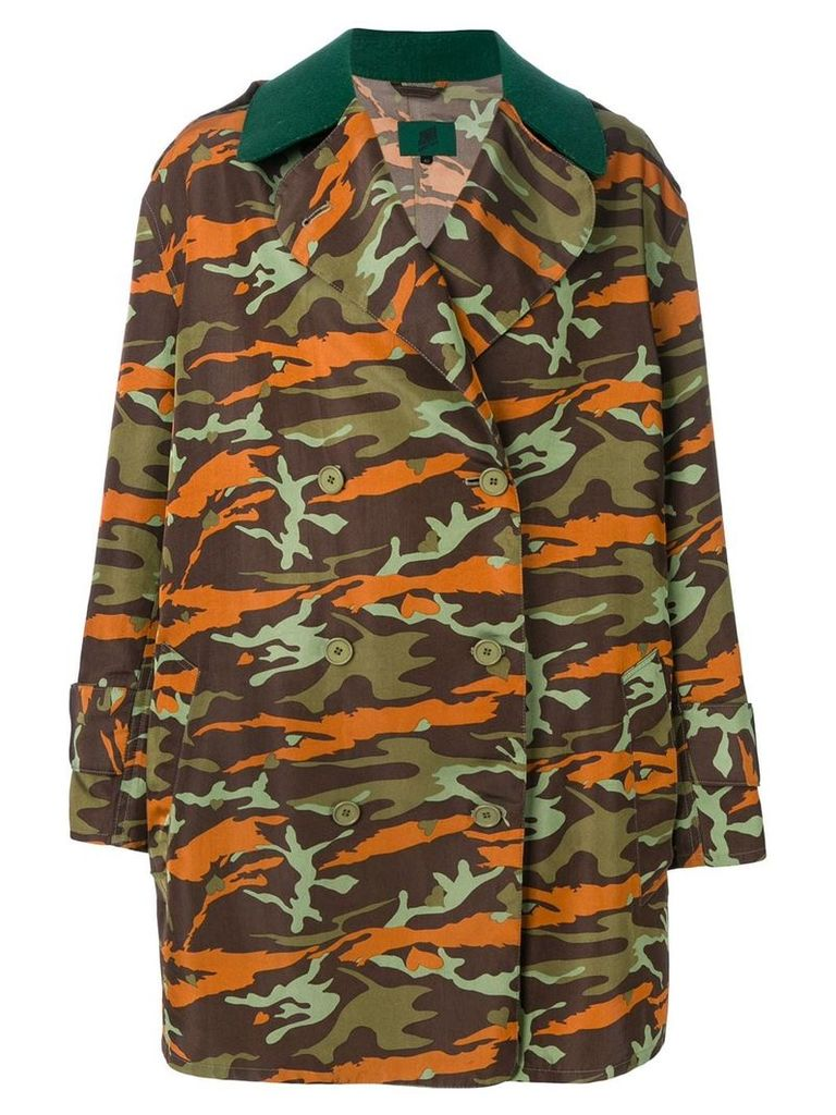 Jean Paul Gaultier Vintage double-breasted camouflage coat -
